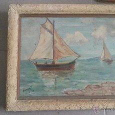 Varios objetos de Arte: ANTIGUO CUADRO DE PINTURA PINTADO AL OLEO DEL PINTOR DIONNAT AÑO 1952. Lote 53911776