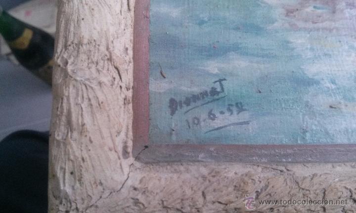 Varios objetos de Arte: Antiguo Cuadro de pintura pintado al oleo del pintor dionnat año 1952 - Foto 2 - 53911776