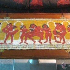 Varios objetos de Arte: 110 CM - GRAN KAMASUTRA INDIA TELA ORIGINAL - EROTICO. Lote 53962956