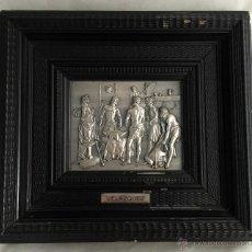 Varios objetos de Arte: OBRAS PARA LA ETERNIDAD : LA FRAGUA DE VULCANO * CUADRO DE DIEGO VELÁZQUEZ EN RELIEVE BAÑO DE PLATA. Lote 144417224