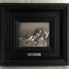 Varios objetos de Arte: OBRAS PARA LA ETERNIDAD : LA MAJA VESTIDA * CUADRO DE FRANCISCO DE GOYA EN RELIEVE BAÑO DE PLATA. Lote 53966086