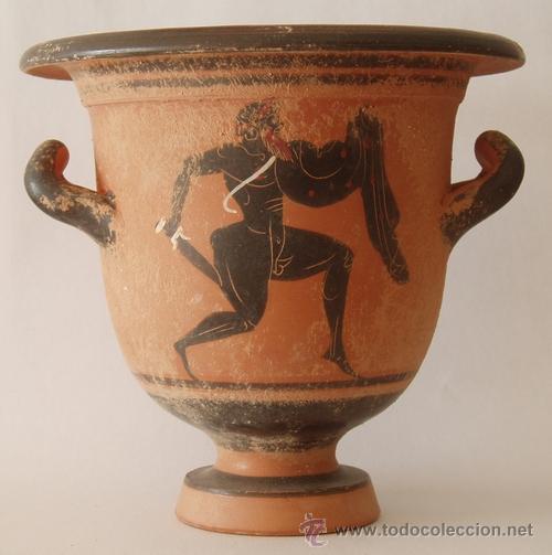 Cr tera cer mica griega reproducci n comprar en - Cocinar en sartenes de ceramica ...