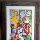 Varios objetos de Arte: DESNUDO Y NATURALEZA MUERTA, 1931. PABLO PICASSO. LÁMINA + MARCO!. Lote 54471915