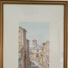 Varios objetos de Arte: CATEDRAL DE SAN RUFINO POR LUCIANI B - FIRMADO - 30 X 17 ( HUELLA ). Lote 54492616