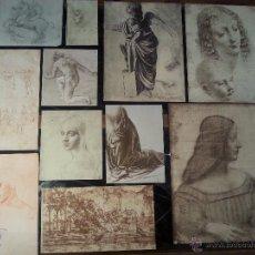 Varios objetos de Arte: LEONARDO DA VINCI - 56 REPRODUCCIONES EN FACSIMIL POR LÉON MAROTTE CON CATÁLOGO EN FRANCES. Lote 54696529