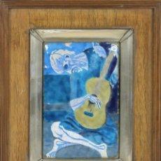 Varios objetos de Arte: O5-019. VIEJO GUITARRISTA. ESMALTE SOBRE METAL. PICASSO. SIGLO XX.. Lote 54740858