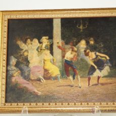 Varios objetos de Arte: O1-070. ESCENA COSTUMBRISTA. OLEOGRAFÍA. ESPAÑA. SIGLO XIX.. Lote 49442505