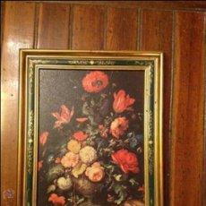Varios objetos de Arte: CUADRO LAMINA FLORES. Lote 54932455