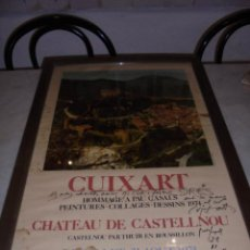 Varios objetos de Arte: (M) MODEST CUIXART - ANTIGUO CARTEL 1974 HOMMAGE A PAU CASALS CON DEDICATORIA ORIGINAL A TINTA AL. Lote 54965302