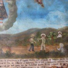 Varios objetos de Arte: EXVOTO. MÉXICO. PINTADO EN CHAPA 31,5 X 21,5 CM. SEPTIEMBRE DE 1921.. Lote 55404693