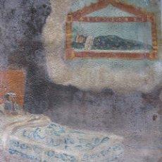 Varios objetos de Arte: EXVOTO. MÉXICO. PINTADO EN CHAPA 27 X 20,7 CM. OCTUBRE DE 1927.. Lote 55406451