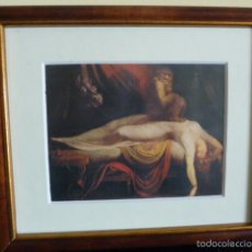 Varios objetos de Arte: ILUSTRACIÓN GÓTICA ENMARCADA.. Lote 55571443
