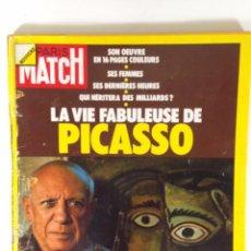 Varios objetos de Arte: REVISTA PARIS MATCH DE ABRIL 1973. CON LA VIDA DE PICASSO EN 16 PAGINAS. Lote 56187327