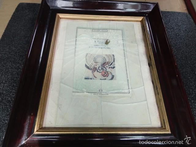 CUADRO ESCULTURA COLLAGE PAPEL, CRISTAL, BALA, SICILIA FIRMADO BORDONARO 40 X 31 CM. OTROARTE (Arte - Varios Objetos de Arte)