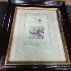 Varios objetos de Arte: CUADRO ESCULTURA COLLAGE PAPEL, CRISTAL, BALA, SICILIA FIRMADO BORDONARO 40 X 31 CM. #OCHOPIEZAS 3. Lote 56326689