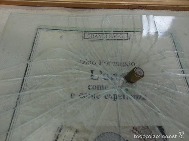 Varios objetos de Arte: Cuadro escultura collage papel, cristal, bala, Sicilia firmado Bordonaro 40 x 31 cm. otroarte - Foto 2 - 56326689
