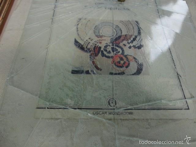 Varios objetos de Arte: Cuadro escultura collage papel, cristal, bala, Sicilia firmado Bordonaro 40 x 31 cm. otroarte - Foto 3 - 56326689