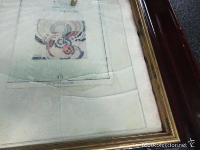 Varios objetos de Arte: Cuadro escultura collage papel, cristal, bala, Sicilia firmado Bordonaro 40 x 31 cm. otroarte - Foto 4 - 56326689