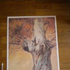 Varios objetos de Arte: LAMINA CARTEL GRAN TAMAÑO DE CARLOS SIERRA DE 70 X 50. Lote 56396560