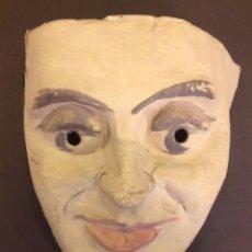 Varios objetos de Arte: MASCARA DE PAPEL. CREADA POR EL ARTISTA AGUSTI PUIG. 1980. Lote 56568261