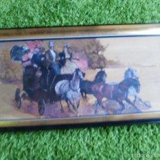 Varios objetos de Arte: CUADRO DE CARROZA SEGURAMENTE OLEO PINTADO SOBRE PANEL, FIRMADO. Lote 57004577