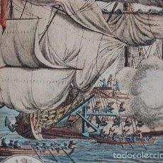 Varios objetos de Arte: LAMINA ANTIGUA REPRESENTACIÓN MARITIMA. Lote 57056611