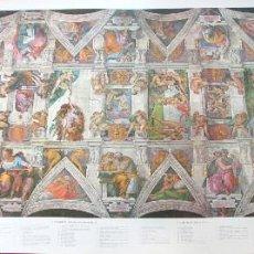 Varios objetos de Arte: CAPILLA SIXTINA LAMINA COMENTADA - 116 X 52 CM. Lote 57199323