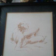 Varios objetos de Arte: DIBUJO DE DESNUDO MASCULINO ENMARCADO. Lote 57317753