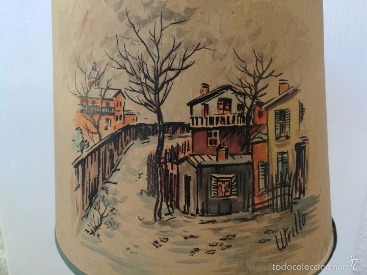 Varios objetos de Arte: UTRILLO OBRA SOBRE LAMPARA Y TULIPA - PRINCIPIOS DEL SIGLO XX - BARRO TERRACOTA - 60 cm - Foto 3 - 57626130