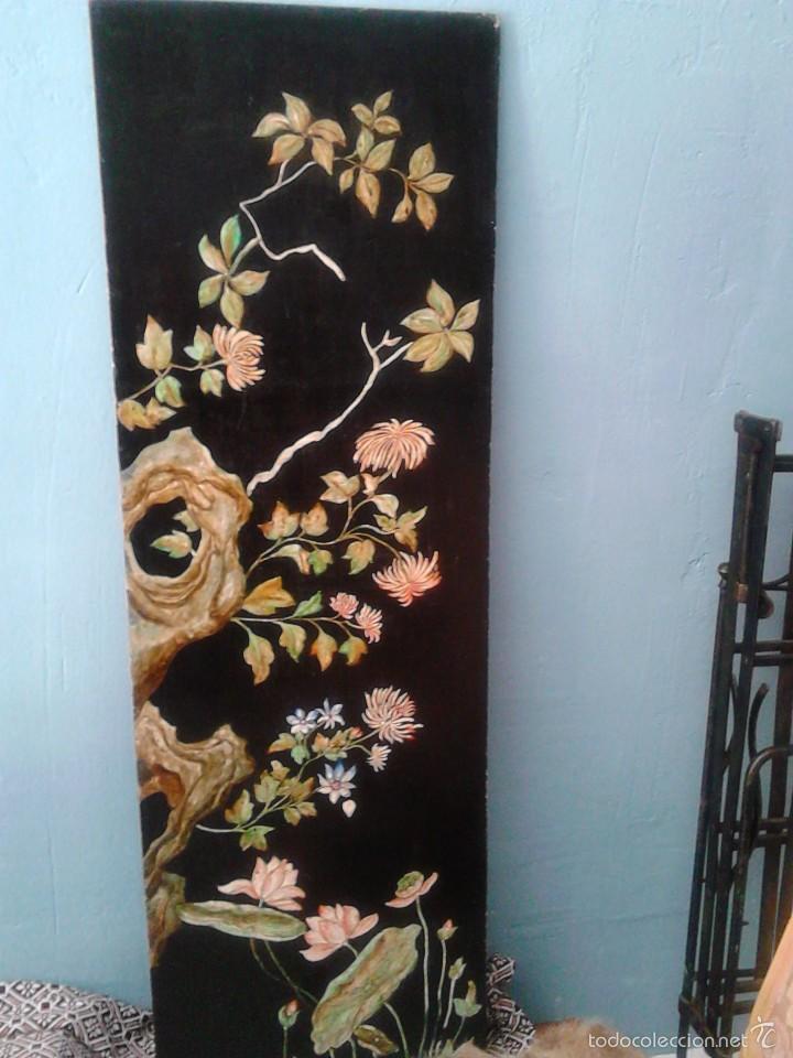 Varios objetos de Arte: Panel estucado y pintado. - Foto 2 - 57658625