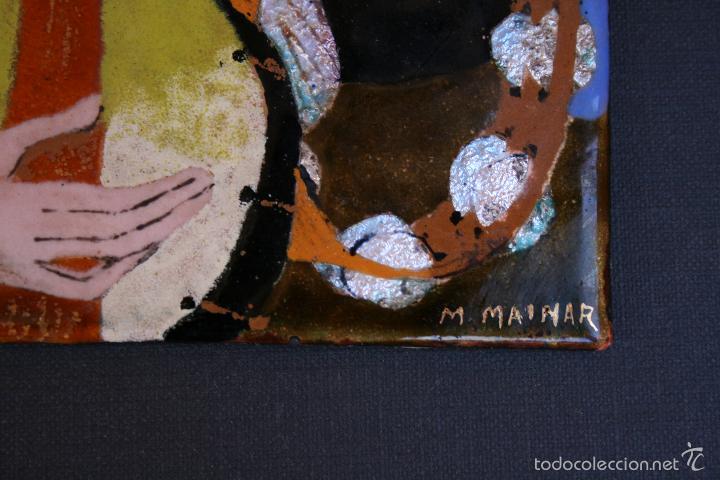 Varios objetos de Arte: MONTSERRAT MAINAR BENEDICTO (Barcelona, 1928) ESMALTE. MÚSICOS. (MAGNIFICA OPORTUNIDAD). - Foto 3 - 57792027