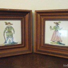 Varios objetos de Arte: HERMOSOS CUADROS, MARCO DE MADERA Y AZULEJO PINTADO A MANO. Lote 57854320