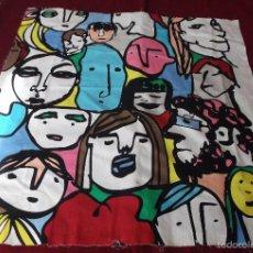 Varios objetos de Arte: TELA DE LIENZO CON DIBUJOS COMICOS SUECOS. Lote 57871290