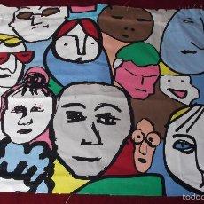 Varios objetos de Arte: TELA DE LIENZO CON DIBUJOS COMICOS SUECOS. Lote 57871393