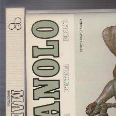 Varios objetos de Arte: MANOLO - ESCULTURA - PINTURA - DIBUJO - MONTSERRAT BLANCH - EDICIONES POLÍGRAFA 1972. Lote 57917810