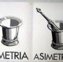 Varios objetos de Arte: SIMETRIA, ASIMETRIA (TÉCNICA COLLAGE) PEREZ YOLANDA. Lote 57925902