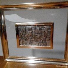 Varios objetos de Arte: PRECIOSO CUADRO DE RELIEVE PLATEADO. Lote 58229671