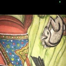 Varios objetos de Arte: CUADRO PINTADO A MANO EN SEDA. Lote 58341440