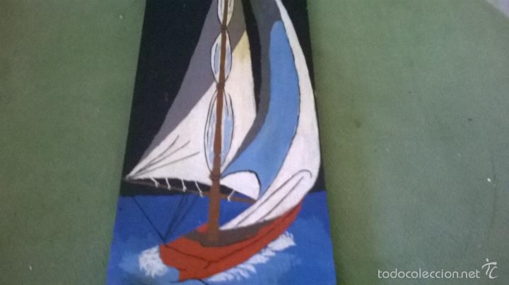 Varios objetos de Arte: marina firmada en madera - Foto 2 - 58395383