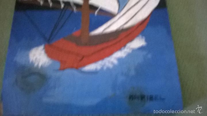 Varios objetos de Arte: marina firmada en madera - Foto 3 - 58395383