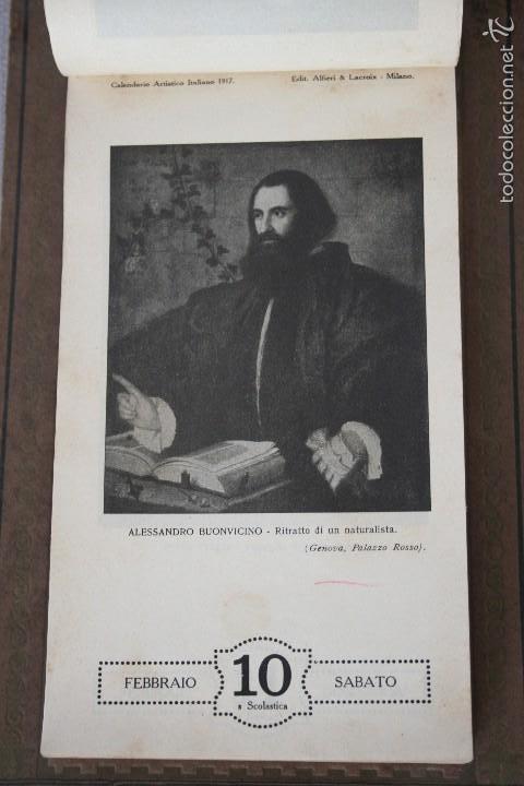 Varios objetos de Arte: CALENDARIO ARTÍSTICO DE PARED EDIT. ALFIERI & LACROIX. AÑO 1917 - Foto 4 - 58607929