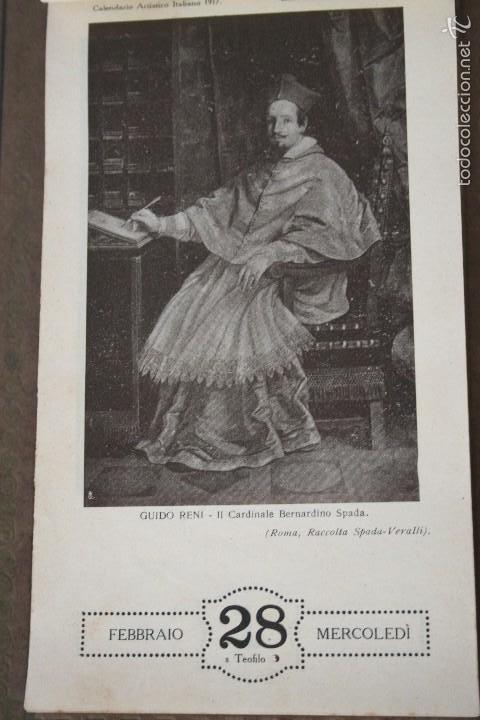 Varios objetos de Arte: CALENDARIO ARTÍSTICO DE PARED EDIT. ALFIERI & LACROIX. AÑO 1917 - Foto 5 - 58607929