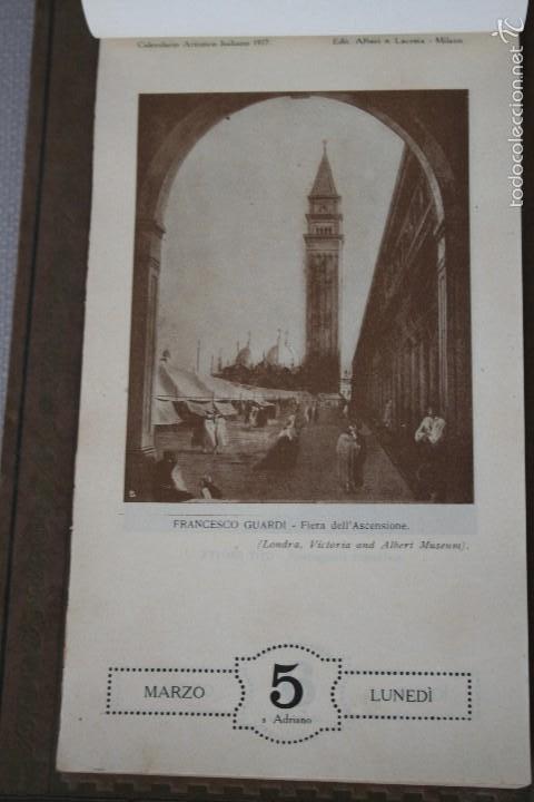 Varios objetos de Arte: CALENDARIO ARTÍSTICO DE PARED EDIT. ALFIERI & LACROIX. AÑO 1917 - Foto 6 - 58607929