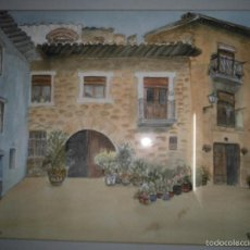 Varios objetos de Arte: CENICERO LA RIOJA GRAN ACURELA FIRMADA R. MARIN FACHADA DEL PUEBLO CON CUÑO ALICANTE EN REVERSO. Lote 58673442