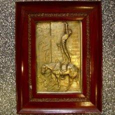 Varios objetos de Arte: QUIJOTE ARTE BAJO RELIEVE METAL MANUEL PALLARES I GRAU AMIGO DE PICASSO ANTIGUO BAJORRELIEVE. Lote 59964583