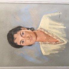 Varios objetos de Arte: RETRATO DE JOVEN MUJER. MEDIDAS: 55X45 CM - GIRONA. Lote 60493607