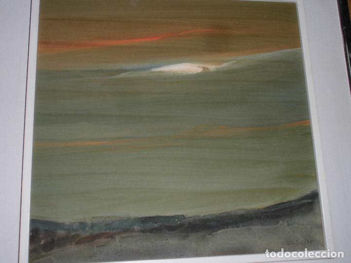 Varios objetos de Arte: PINTURA ANTIGUA CUADRO OLEO VANGUARDISTA FIRMA ILEGIBLE EN EL 75 A ESTUDIAR - Foto 6 - 61872680