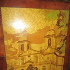 Varios objetos de Arte: CUADRO MARQUETERÍA-CONCATEDRAL DE FERROL-IGLESIA SAN JULIÁN-JOSÉ RODRIGUEZ LOPEZ-90X71/78,5X59,5 CMS. Lote 62478540