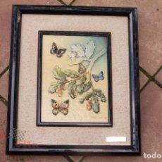 Varios objetos de Arte: MARIPOSAS EN UN ROBLE - ELENA OLIVERA. Lote 63027204