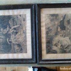 Varios objetos de Arte: 2 CUADROS ANTIGUOS. Lote 63784683